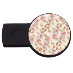 Background Page Template Floral Usb Flash Drive Round (2 Gb)