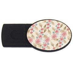 Background Page Template Floral Usb Flash Drive Oval (2 Gb)