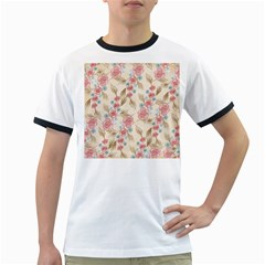 Background Page Template Floral Ringer T-Shirts