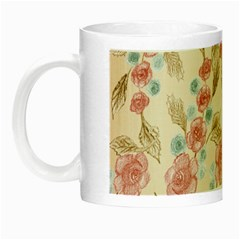 Background Page Template Floral Night Luminous Mugs