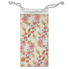 Background Page Template Floral Jewelry Bag