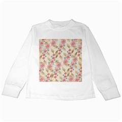 Background Page Template Floral Kids Long Sleeve T Shirts