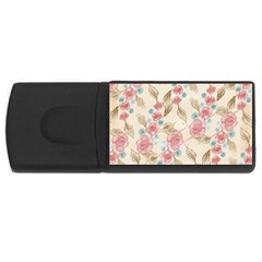 Background Page Template Floral Usb Flash Drive Rectangular (4 Gb)