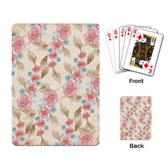 Background Page Template Floral Playing Card