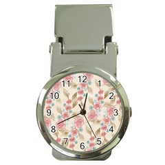 Background Page Template Floral Money Clip Watches