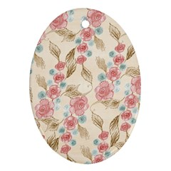 Background Page Template Floral Oval Ornament (two Sides)