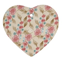 Background Page Template Floral Heart Ornament (2 Sides)
