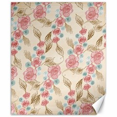 Background Page Template Floral Canvas 8  X 10