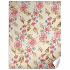 Background Page Template Floral Canvas 12  X 16