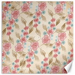 Background Page Template Floral Canvas 20  X 20