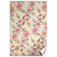 Background Page Template Floral Canvas 24  X 36