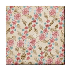 Background Page Template Floral Face Towel