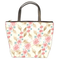 Background Page Template Floral Bucket Bags