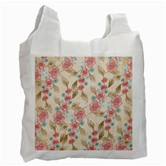 Background Page Template Floral Recycle Bag (two Side)