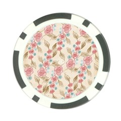 Background Page Template Floral Poker Chip Card Guards (10 Pack)