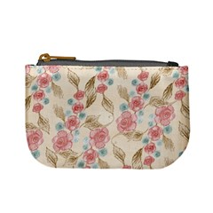 Background Page Template Floral Mini Coin Purses