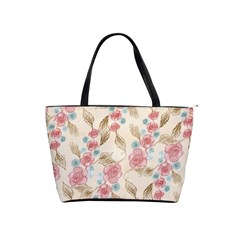 Background Page Template Floral Shoulder Handbags