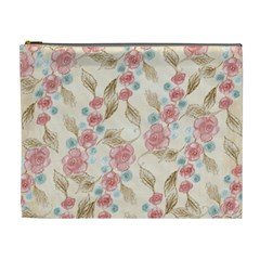 Background Page Template Floral Cosmetic Bag (xl)