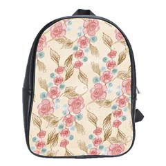 Background Page Template Floral School Bags(Large)
