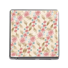 Background Page Template Floral Memory Card Reader (square)