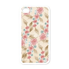 Background Page Template Floral Apple Iphone 4 Case (white)