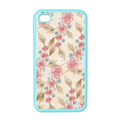 Background Page Template Floral Apple Iphone 4 Case (color)