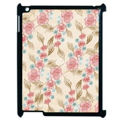 Background Page Template Floral Apple Ipad 2 Case (black)