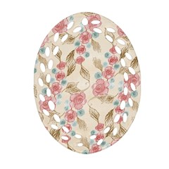 Background Page Template Floral Ornament (oval Filigree)