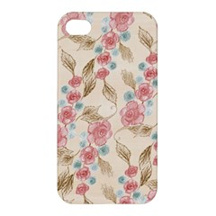 Background Page Template Floral Apple Iphone 4/4s Hardshell Case