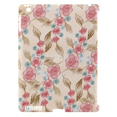 Background Page Template Floral Apple Ipad 3/4 Hardshell Case (compatible With Smart Cover)