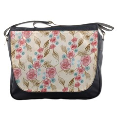 Background Page Template Floral Messenger Bags