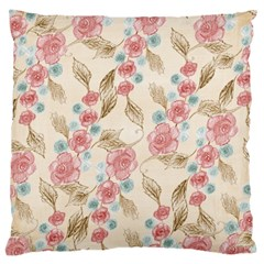 Background Page Template Floral Large Cushion Case (one Side)