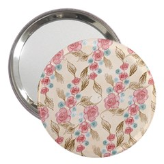 Background Page Template Floral 3  Handbag Mirrors