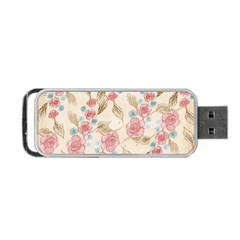 Background Page Template Floral Portable Usb Flash (two Sides)
