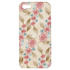Background Page Template Floral Apple Iphone 5 Hardshell Case