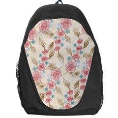Background Page Template Floral Backpack Bag