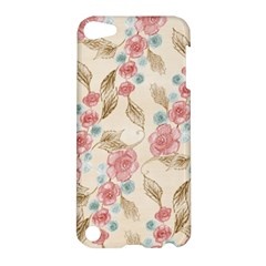 Background Page Template Floral Apple Ipod Touch 5 Hardshell Case