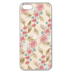 Background Page Template Floral Apple Seamless Iphone 5 Case (clear)