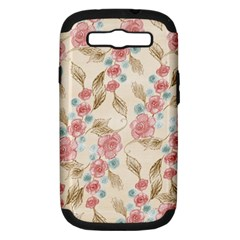 Background Page Template Floral Samsung Galaxy S III Hardshell Case (PC+Silicone)