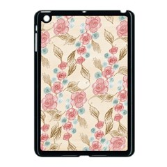 Background Page Template Floral Apple Ipad Mini Case (black)