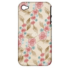Background Page Template Floral Apple Iphone 4/4s Hardshell Case (pc+silicone)