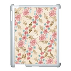 Background Page Template Floral Apple Ipad 3/4 Case (white)