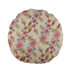 Background Page Template Floral Standard 15  Premium Round Cushions
