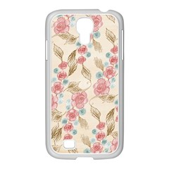 Background Page Template Floral Samsung Galaxy S4 I9500/ I9505 Case (white)