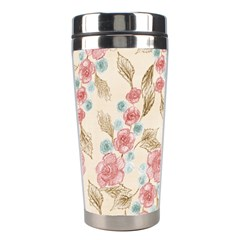 Background Page Template Floral Stainless Steel Travel Tumblers