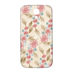 Background Page Template Floral Samsung Galaxy S4 I9500/i9505  Hardshell Back Case
