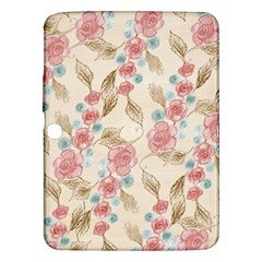 Background Page Template Floral Samsung Galaxy Tab 3 (10.1 ) P5200 Hardshell Case