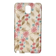 Background Page Template Floral Samsung Galaxy Note 3 N9005 Hardshell Case