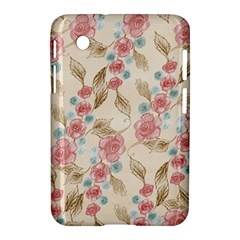 Background Page Template Floral Samsung Galaxy Tab 2 (7 ) P3100 Hardshell Case