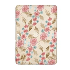Background Page Template Floral Samsung Galaxy Tab 2 (10 1 ) P5100 Hardshell Case